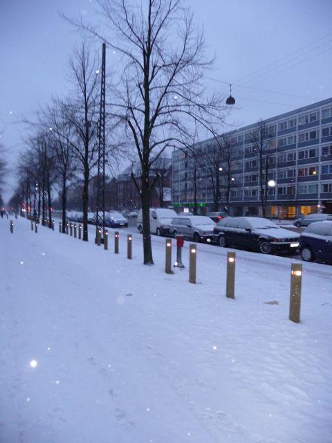 Østerbro kl 7 i morges